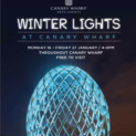 New works by Camilo Matiz in 'Winter Lights' at Canary Wharf 16th – 27th January, 4-9pm